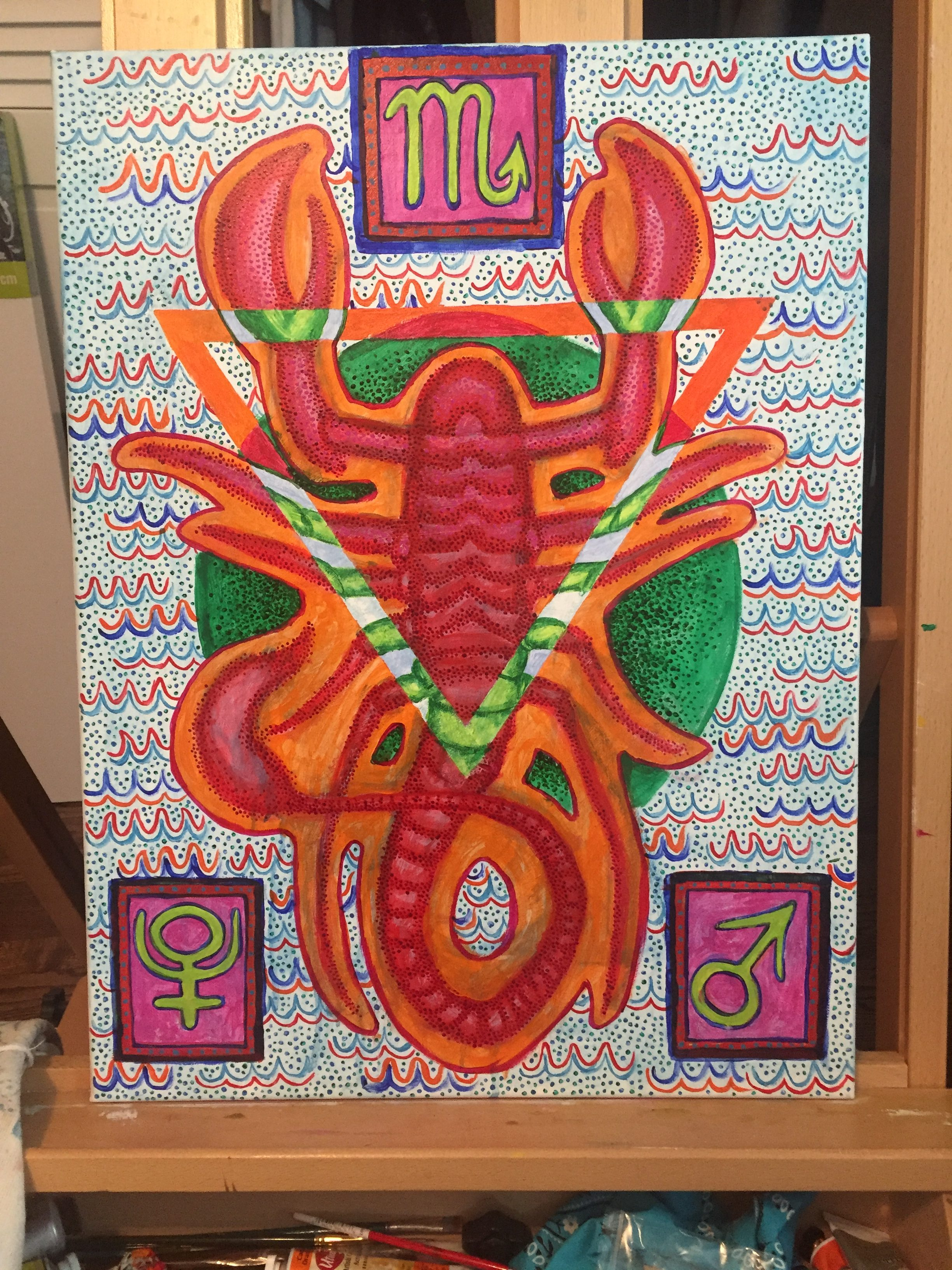 Scorpio, acrylic on canvas, 18 x 24